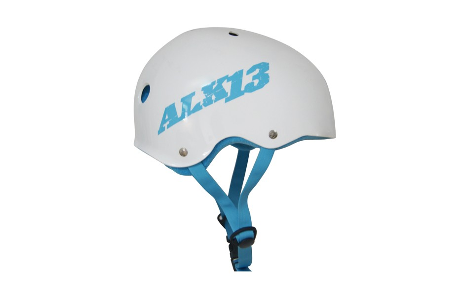 ALK13 Helmet H2O+ White/ Light Blue Logo