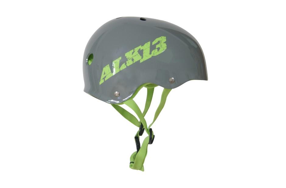ALK13 Helmet H2O+  Grey / Green Logo