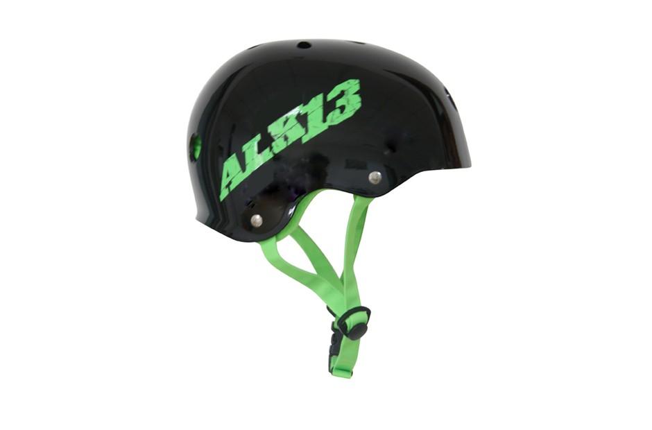 ALK13 Helmet H2O+  Black / Green Logo