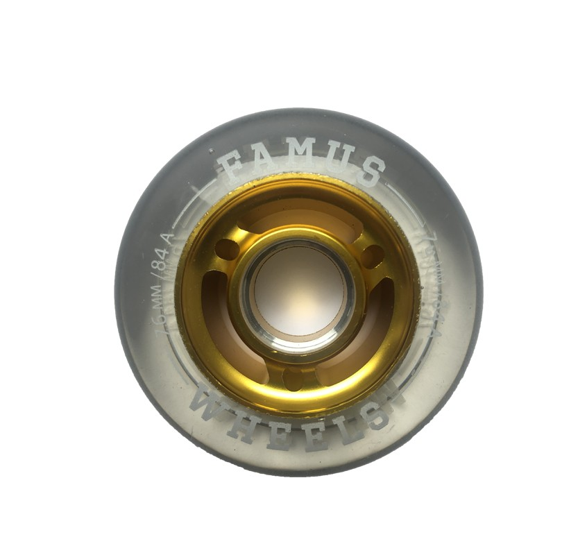Famus Wheels 76mm/84A Transparent Gold