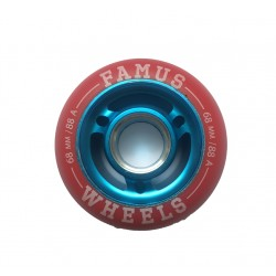 Famus Wheels 68mm/88A Red Blue