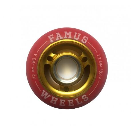 Famus Wheels 72mm/83A Red Gold
