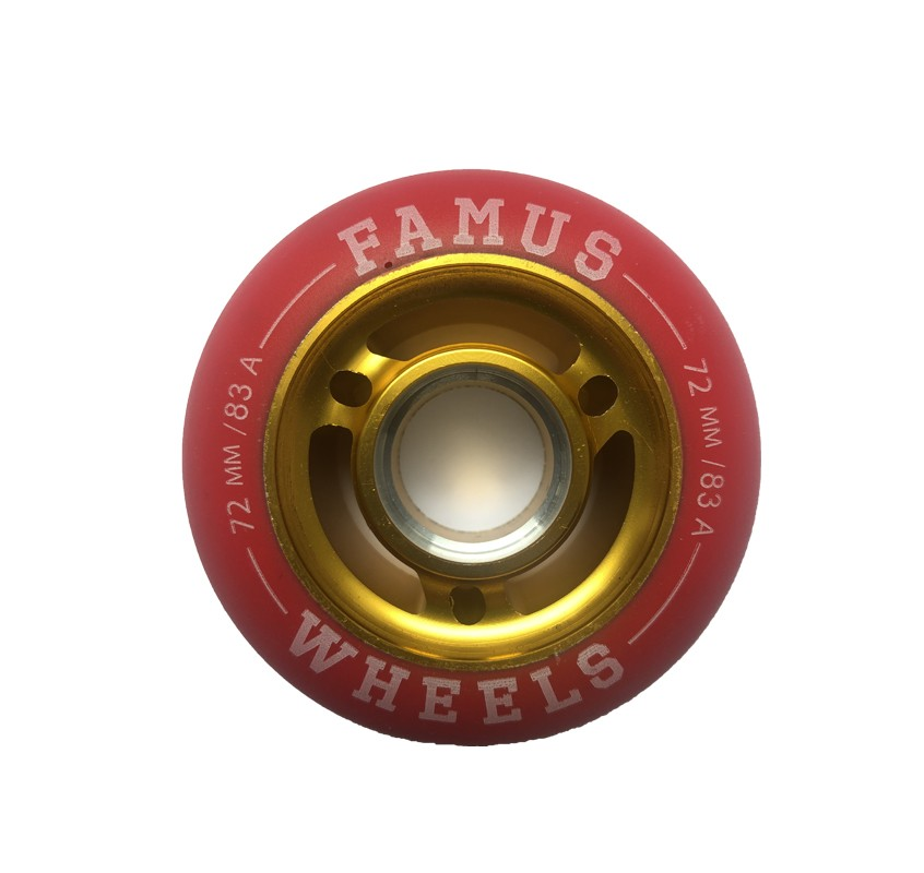 Famus Wheels 72mm/83A Red Gold