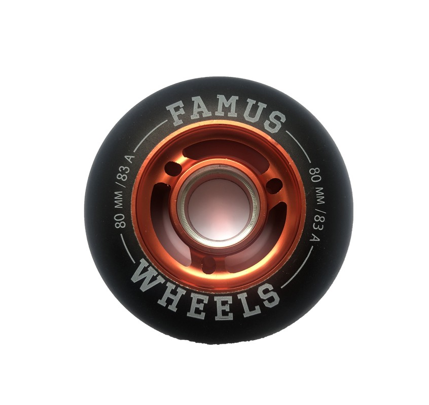 Famus Wheels 80mm/83A Black Red