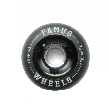 Famus Wheels 76mm/83A All Black