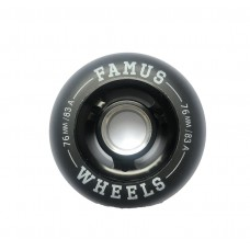 Famus Wheels 76mm/83A All Black