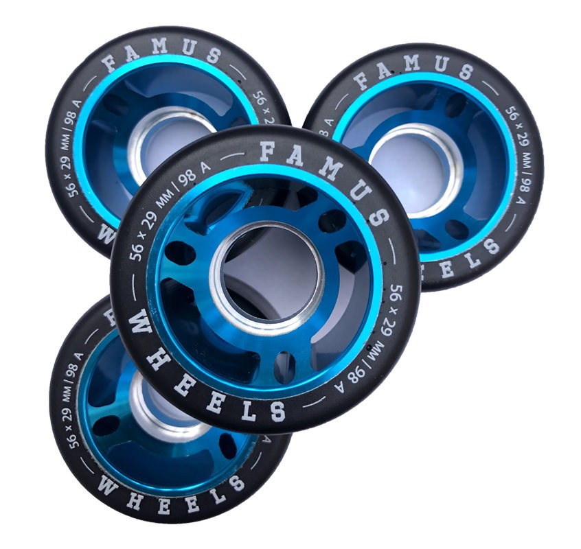 Famus Wheels 56mmx29mm|98a Blue
