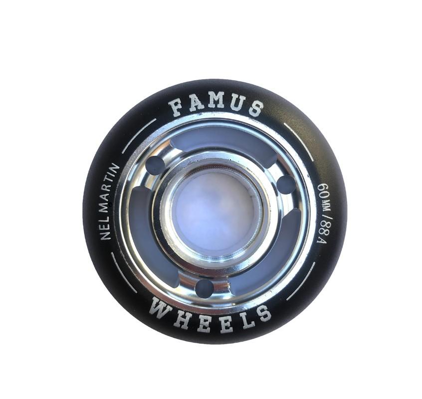 """Famus Wheels """"Nel Martin"""" 60mm/88A Silver"""