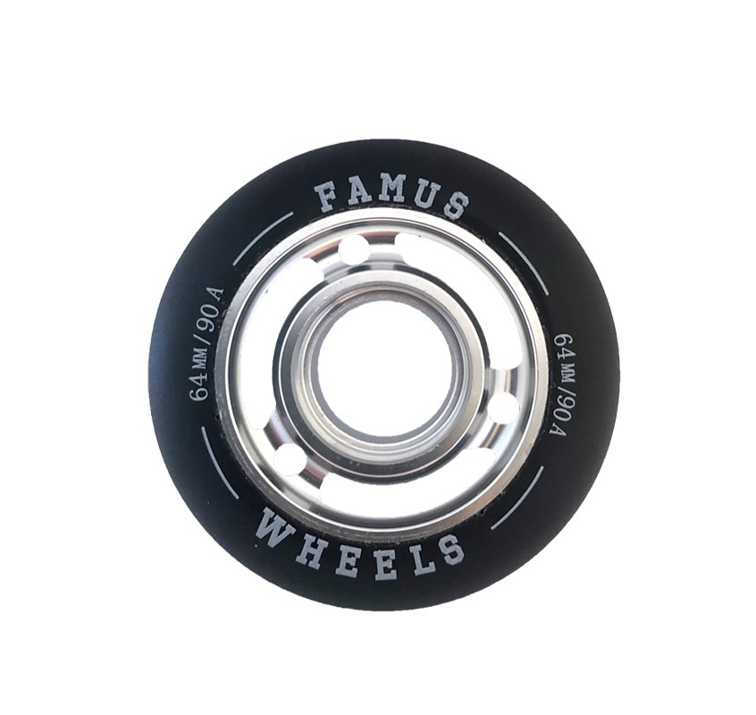 FAMUS WHEELS 64MM/90A SILVER