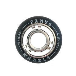 Famus Wheels 60mm/88A Silver Black