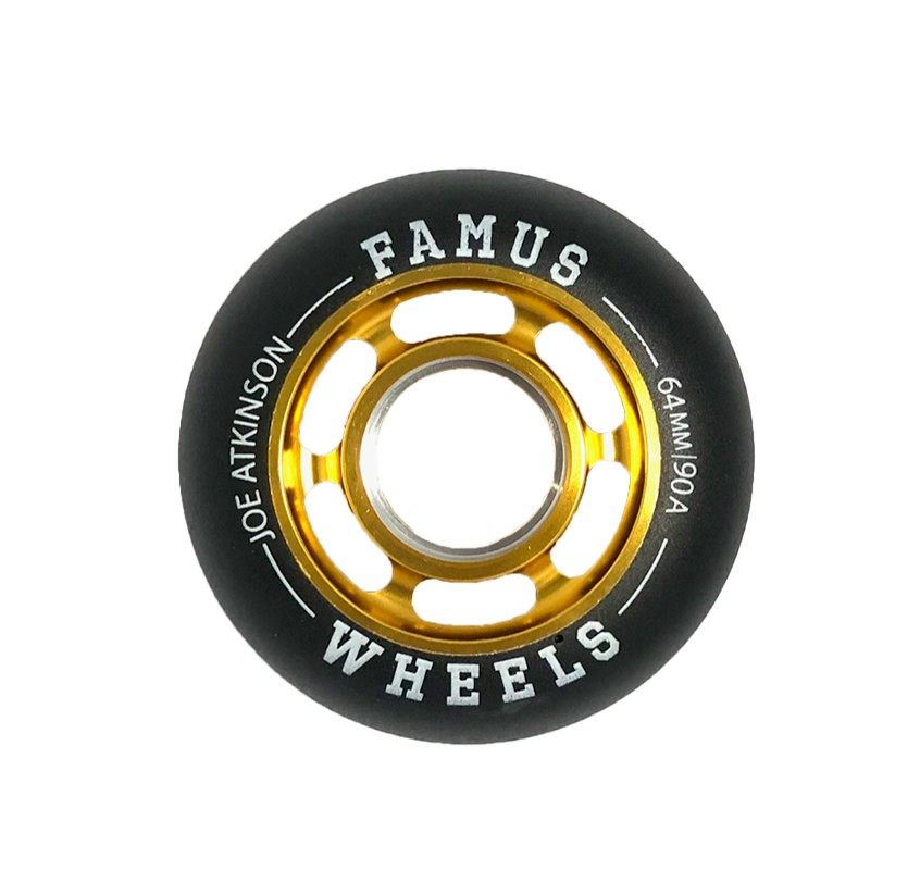 "Famus Wheels "" Joe Atkinson"" 64mm/90A Gold"