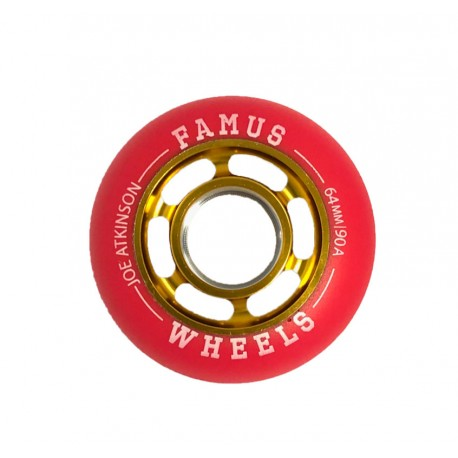 "Famus Wheels "" Joe Atkinson"" 64mm/90A Gold Red"