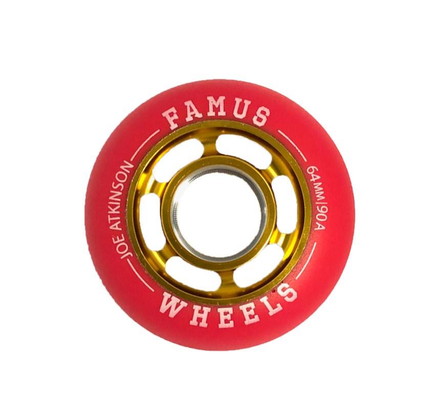 "Famus Wheels "" Joe Atkinson"" 64mm/90A Gold Red"