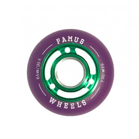 Famus Wheels 64mm/90A Green Purple