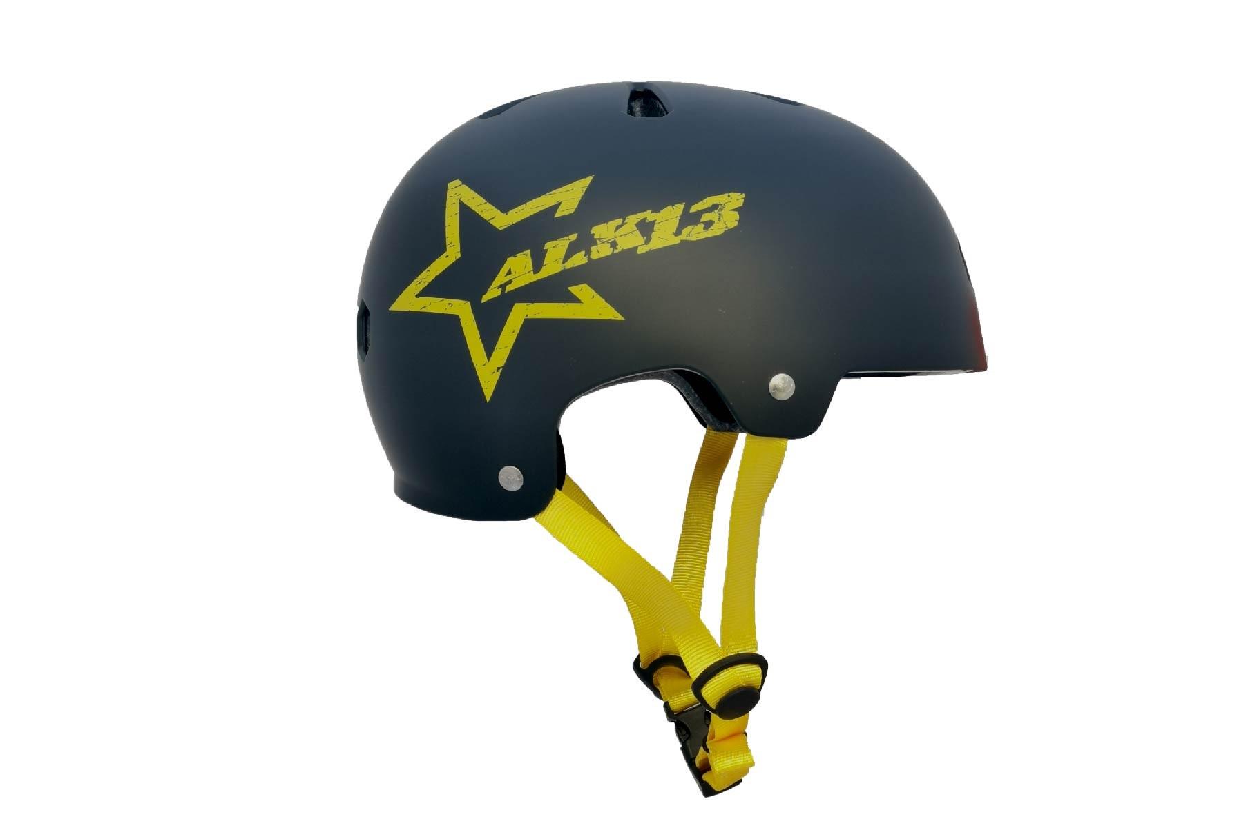 Helmet Krypton Black Yellow Star