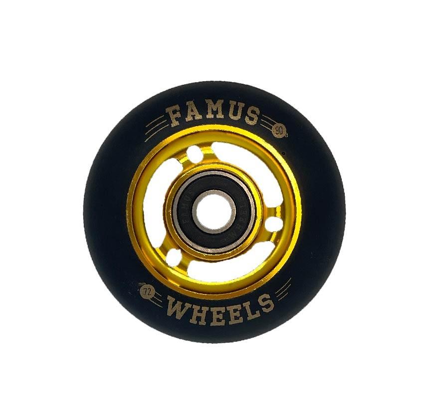 Famus Wheels 72mm/90A Black Gold