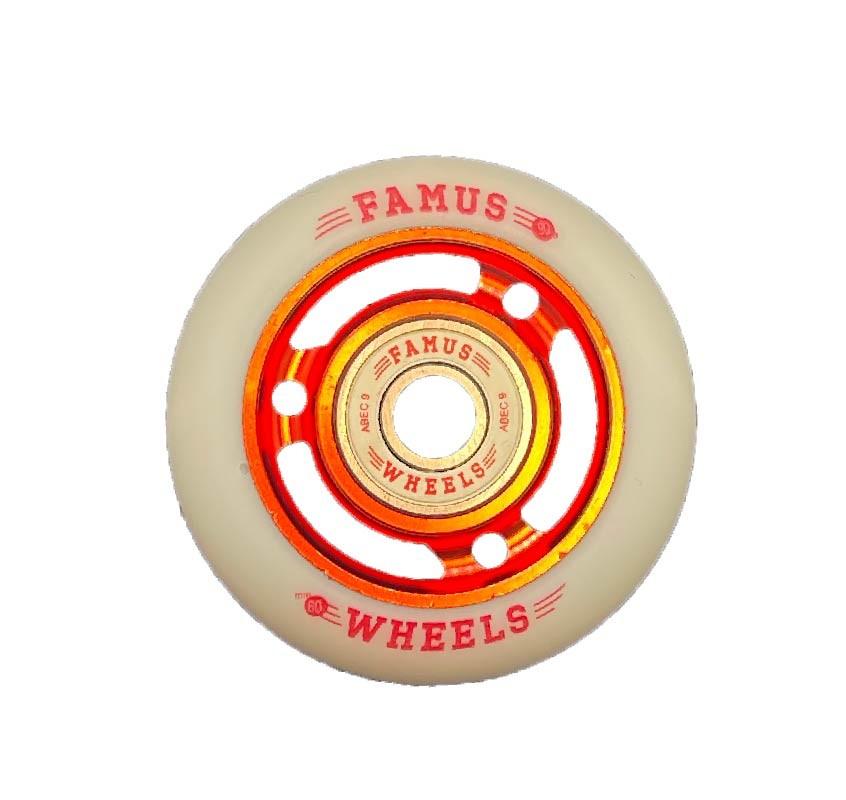 Famus Wheels 60mm/90A Red White 3 Spokes