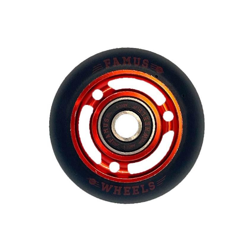 Famus Wheels 60mm/90A Red Black 3 Spokes