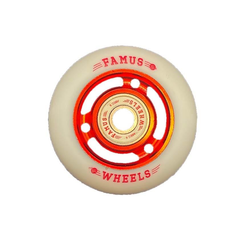 Famus Wheels 64mm/92A Red White