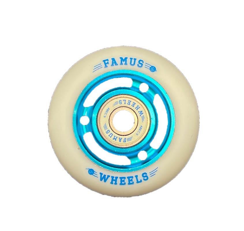 Famus Wheels 64mm/92A Blue White